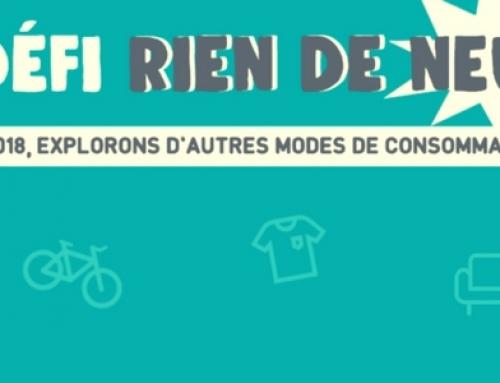 En 2018 je relève le défi #RienDeNeuf lancé par Zéro Waste France